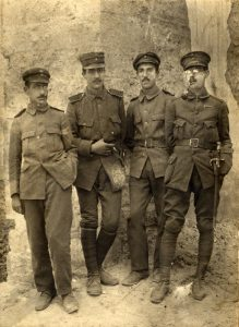 Στρατευμένοι, Δημήτρης Σταύρου, Μίλτος Κουντουράς, Κώστας Κόντος, Στρατής Μυριβήλης