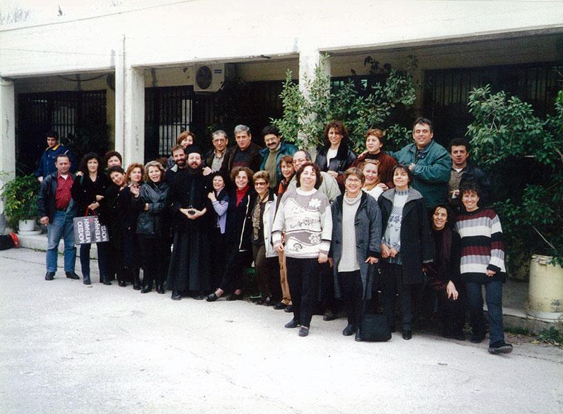 Ο Σύλλογος των καθηγητών του 3ου Ενιαίου Λυκείου (πρώην Ενιαίου Πολυκλαδικού Λυκείου) Νέας Φιλαδέλφειας «Μίλτος Κουντουράς». Ιανουάριος 2001.